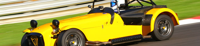 Simon and the Caterham at Brands Hatch